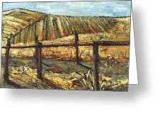California Vineyard Greeting Card by Susan Adame