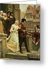 Call To Arms Greeting Card by Edmund Blair Leighton