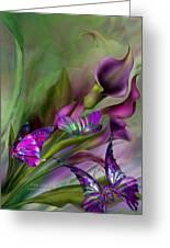 Calla Lilies Greeting Card by Carol Cavalaris