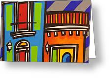Calle Luna Greeting Card by Mary Tere Perez