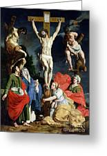 Calvary Greeting Card by Abraham Janssens van Nuyssen