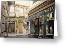 Calzados Victoria-leon Greeting Card by Tomas Castano