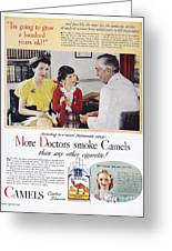 Camel Cigarette Ad, 1946 Greeting Card by Granger