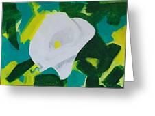 Camo Calla Lilly Greeting Card by Marsha Heiken