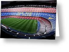 Camp Nou Greeting Card by Agusti Pardo Rossello