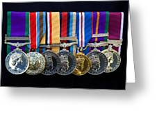 Campaign Medals Greeting Card by Peter Jarvis