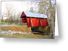 Campbell's Covered Bridge Greeting Card by Diane Toro