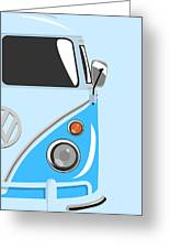 Camper Blue 2 Greeting Card by Michael Tompsett