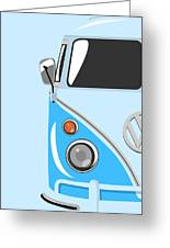 Camper Blue Greeting Card by Michael Tompsett
