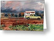 Camper On Pacific Coast Highway Greeting Card by Donald Maier