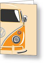 Camper Orange 2 Greeting Card by Michael Tompsett
