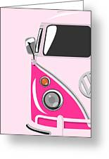 Camper Pink Greeting Card by Michael Tompsett