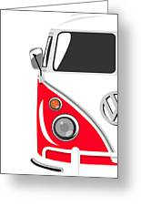 Camper Red Greeting Card by Michael Tompsett
