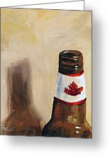 Canadian Beer Greeting Card by Torrie Smiley