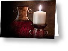 Candle Greeting Card by Tom Mc Nemar