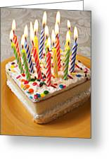 Candles On Birthday Cake Greeting Card by Garry Gay
