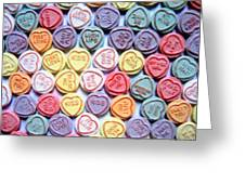 Candy Love Greeting Card by Michael Tompsett