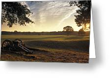 Cannons On The Battlefield Greeting Card by Richard Nowitz