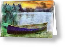 Canoe Greeting Card by Anthony Caruso