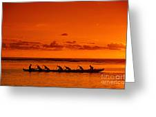 Canoe Paddlers Greeting Card by Joe Carini - Printscapes