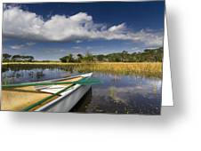 Canoeing in the Everglades Greeting Card by Debra and Dave Vanderlaan