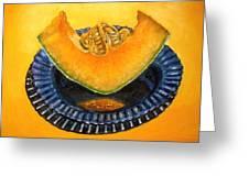 Cantaloupe Oil Painting Greeting Card by Natalja Picugina