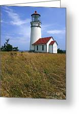 Cape Blanco Light Greeting Card by Winston Rockwell
