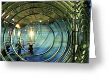 Cape Blanco Lighthouse Lens Greeting Card by James Eddy