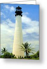 Cape Florida Lighthouse Greeting Card by Frederic Kohli