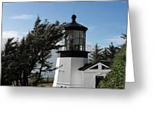 Cape Meares Lighthouse near Tillamook on the scenic Oregon Coast Greeting Card by Christine Till
