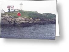 Cape Neddick Lighthouse Greeting Card by Thomas R Fletcher
