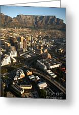 Cape Town From The Air Greeting Card by Andy Smy