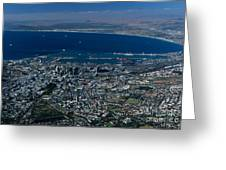 Capetown South Africa Aerial Greeting Card by Sandra Bronstein