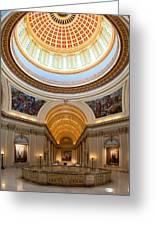 Capitol Interior II Greeting Card by Ricky Barnard