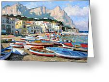 Capri Sunshine Greeting Card by Roelof Rossouw
