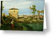 Capriccio with Motifs from Padua Greeting Card by Canaletto