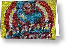 Captain America MM mosaic Greeting Card by Paul Van Scott