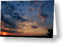 Captree Sunset Greeting Card by Christopher Kirby
