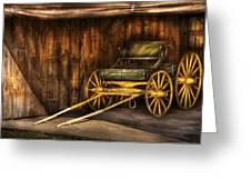 Car - Wagon - The Old Wagon Greeting Card by Mike Savad