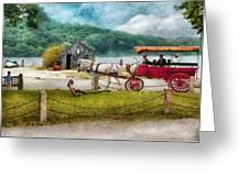 Car - Wagon - Traveling In Style Greeting Card by Mike Savad