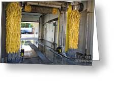 Car Wash Interior Greeting Card by Jaak Nilson