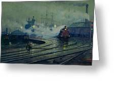 Cardiff Docks Greeting Card by Lionel Walden
