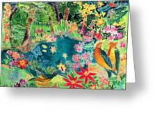 Caribbean Jungle Greeting Card by Hilary Simon
