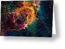 Carina Nebula Greeting Card by Andrea Barbieri