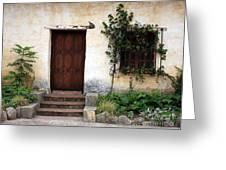 Carmel Mission Door Greeting Card by Carol Groenen
