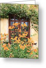 Carmel Mission Window Greeting Card by Carol Groenen