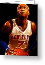 Carmelo Anthony - New York Nicks - Basketball - Mello Greeting Card by Lee Dos Santos