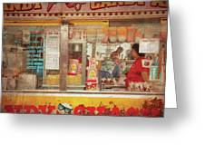 Carnival - The Candy Shack Greeting Card by Mike Savad