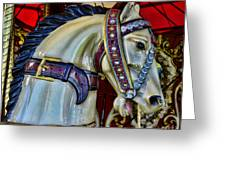 Carousel Horse - 7 Greeting Card by Paul Ward