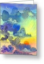 Carribean Rain At Sunset Greeting Card by Jennifer Baird